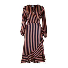 Neo Noir Riva Orange Stripe Dress