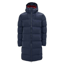 Rains Blue Long Puffer Jacket