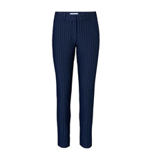 2ND ONE Navy Carine Pins Shine  Pants