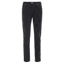 Please Black Printed Velour Jeans