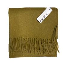 Mathlau Olive Lambswool Tørklæde