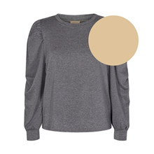 Freequent Beige Sand Melange Off Pullover