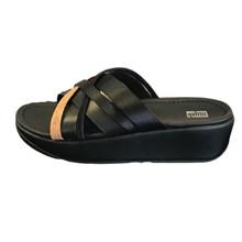 FitFlop Kessia Slides Black Mix Sandal