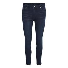 My Essential Wardrobe Dark Blue Wash Celina Zip Jeans