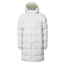Rains Off White Puffer Jacket