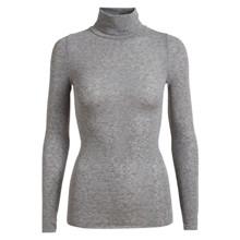 Gai+Lisva Light Grey Melange Anna L/S Wool Turtleneck