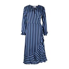 Neo Noir Riva Navy Stripe Dress