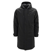 Rains Black Padded Coat