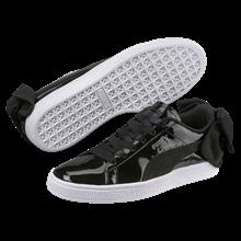 Puma Sort Lak Basket Bow Sneakers