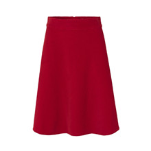 Mads Nørgaard Red Stelly Clean Spring Cord Skirt