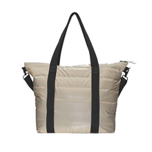 Rains Taupe Tote Bag Quilted