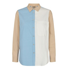 Mos Mosh Bella Block Shirt Bel Air Blue