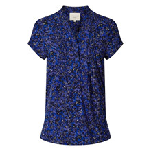 Lollys Laundry Blue Flower Print Heather Top
