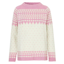 Mads Nørgaard Kanona Pink/Ecru Iceland Sweater