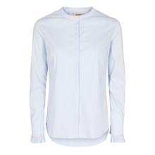 Mos Mosh Lyseblå/Hvid Mattie Stripe Shirt