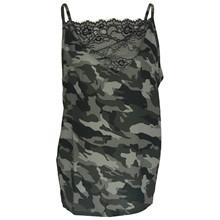 Black Colour Camouflage Lace Top