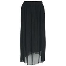 Black Colour Sort Maxi Skirt