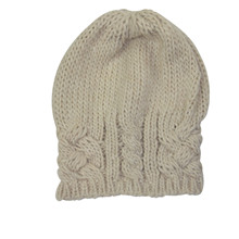 Mathlau Hat Cable Knit Sand