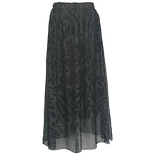 Black Colour Grå Zebra Skirt