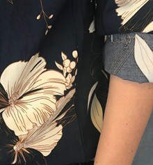 Rue de Femme Navy Blomst Shirt