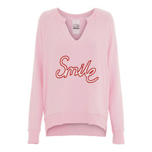 AJ 117 Project Baby Pink Aloha Smile Sweatshirt