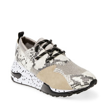 Steve Madden Natural Snake Cliff Sneakers