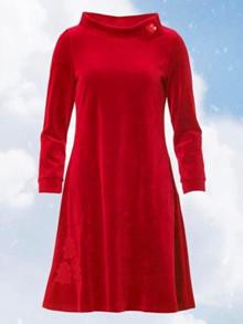 Du Milde Caroline Tree Red Kjole