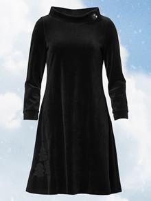 Du Milde Caroline Tree Black Kjole