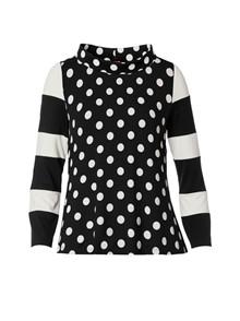 Du Milde Dot-Dot Alberta Black Bluse