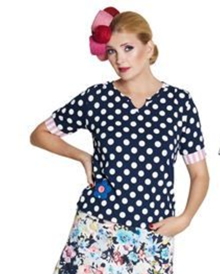 Du Milde Flower And Dots Petra Bluse