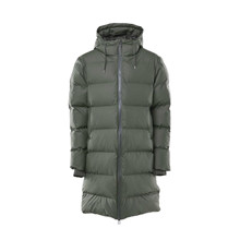 Rains Army Long Puffer Jacket