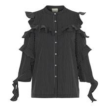 Heartmade Sort/Hvid Pinstripe Maiko Shirt