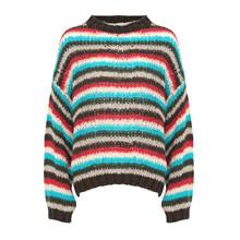 Noella Brown Stripes Kala Knit Sweater