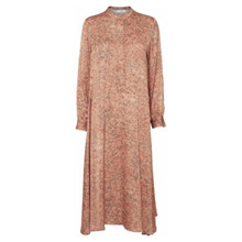 Norr Lennon Dress Peach Print