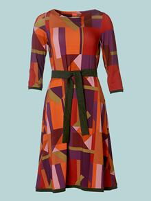 Du Milde Suzettes Stripes and Squares Kjole
