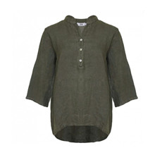 Tiffany Shirt Linen Dark Army