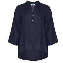 Tiffany Navy Linen Shirt