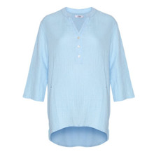 Tiffany Blå Double Cotton Shirt