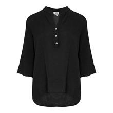 Tiffany Shirt Black Double Cotton