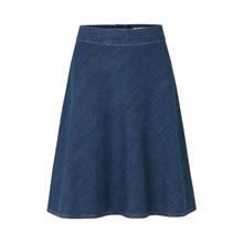 Mads Nørgaard Soft Organic Denim Skirt Dark Indigo