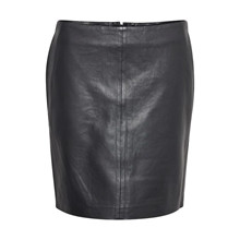 Denim Hunter The Leather Skirt Black