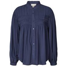 Lollys Laundry Dark Blue Cara Bluse