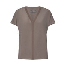 Mos Mosh Chocolate Chip Ariana Silk Blouse