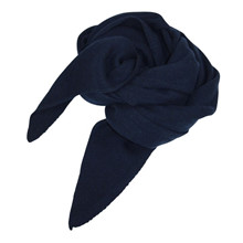 Mathlau Navy Lambswool Tørklæde