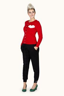 Margot Lipstick Redlove Cardigan