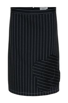 Margot Pinstiped Blackflower Skirt