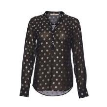 Rue De Femme Dot Shirt Black