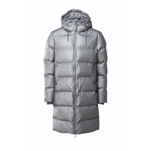 Rains Metallic Long Puffer Jacket