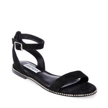 Steve Madden Black Salute Flat Sandals