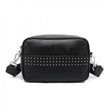 Noella Lina Small Bag Black Nappa Look